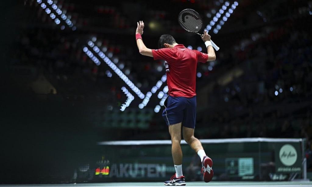 Djokovic pede desculpa depois de um ponto ganho com a bola a bater na rede