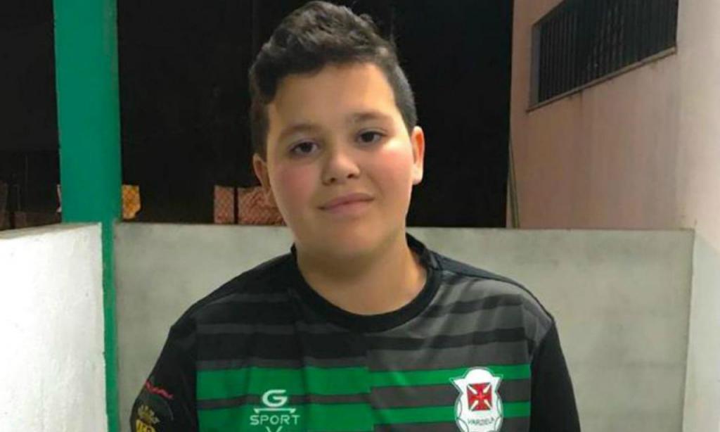 Zé, guarda-redes de 14 anos do Varziela (CRCD Varziela)