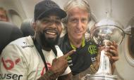 Jorge Jesus com a Taça Libertadores