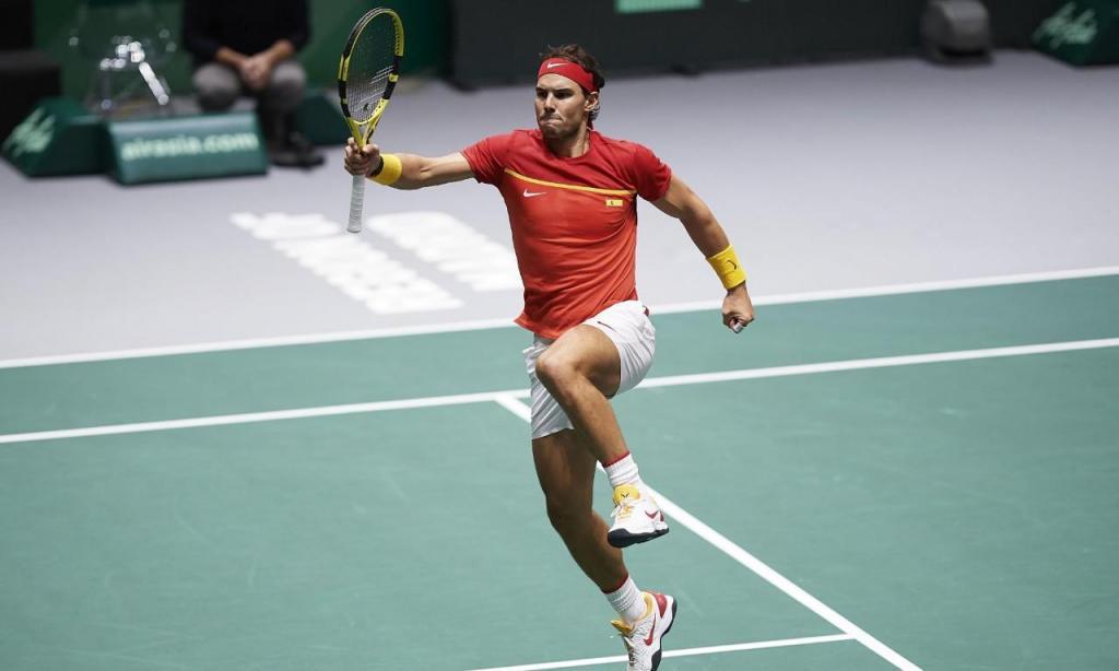 Rafael Nadal celebra vitória na Taça Davis