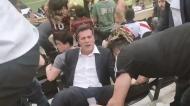 Júlio César sente-se mal e cai durante final da Libertadores
