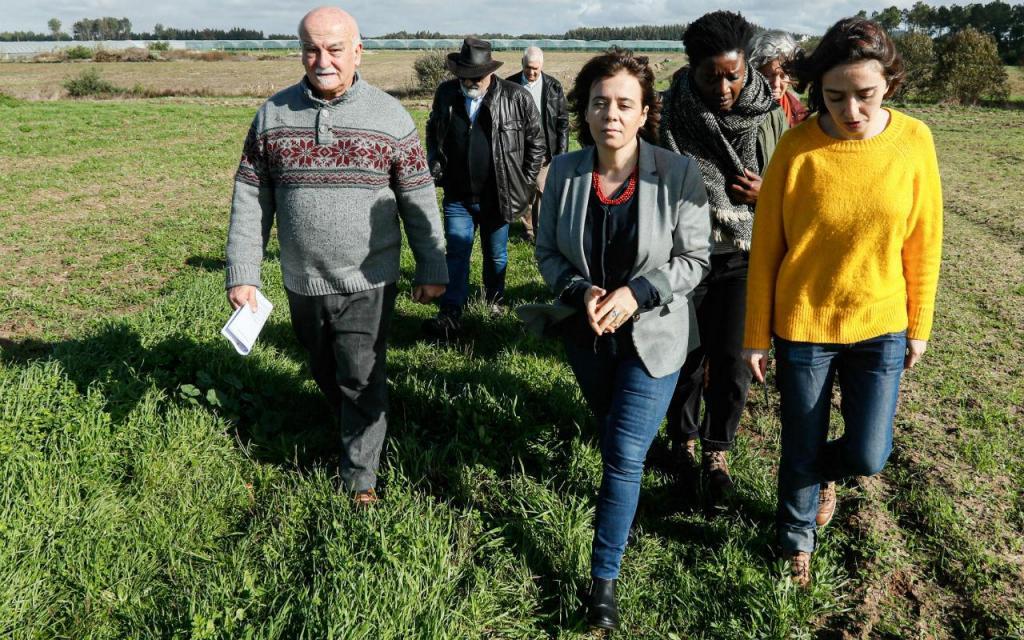 Catarina Martins visita perímetro de rega do Mira, no Alentejo