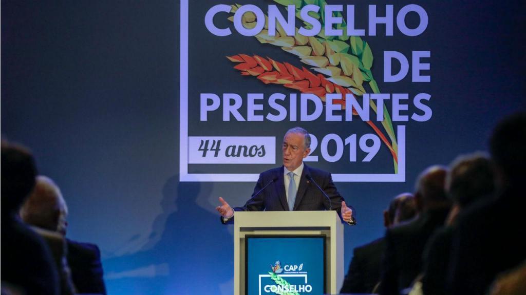 Marcelo Rebelo de Sousa no encerramento do conselho de presidentes da CAP