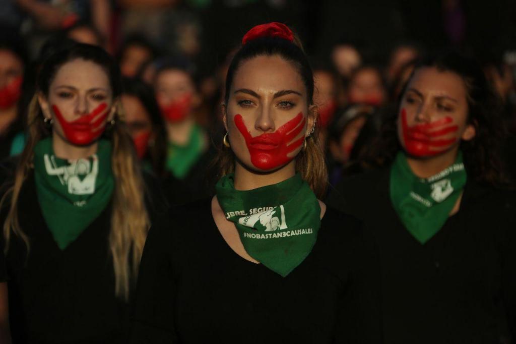 Manifestação das mulheres no Chile
