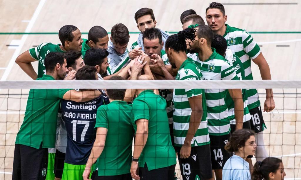 Equipa de vólei do Sporting (FOTO Mário Vasa/Sporting)
