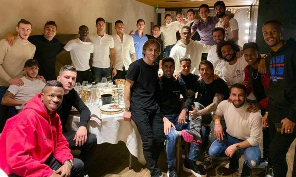 Jantar de Natal do Real Madrid (foto Sergio Ramos)