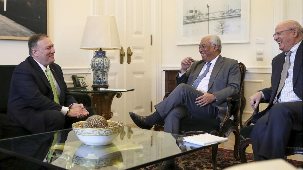 António Costa e Augusto Santos Silva recebem Mike Pompeo, secretário de Estado norte-americano