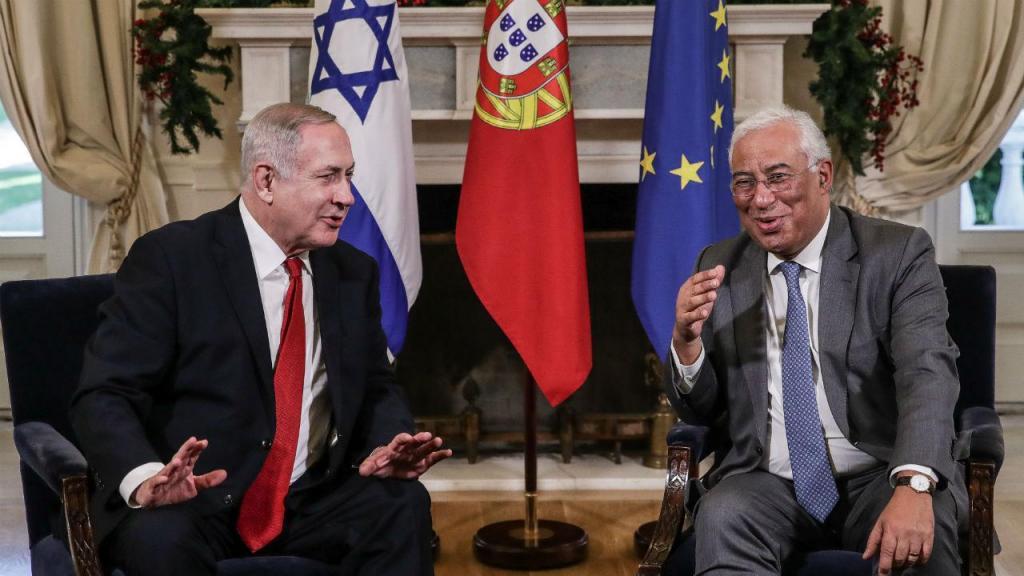 António Costa e Bejamin Netanyahu