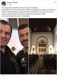Sérgio Conceição na missa