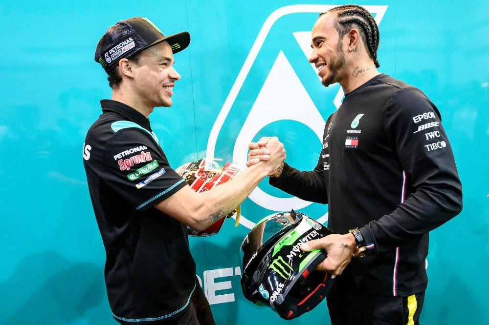 Franco Morbidelli e Lewis Hamilton (SRT Yamaha)