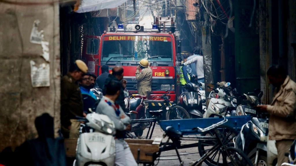 Incêndio em mercado em Nova Deli
