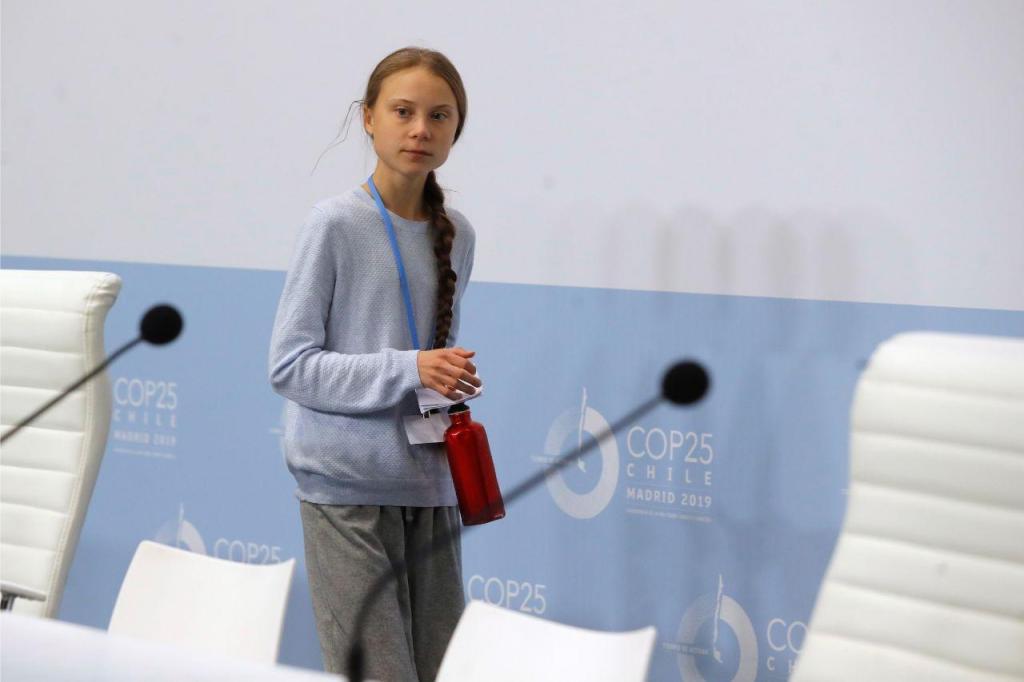 Greta Thunberg na Cimeira do Clima em Madrid