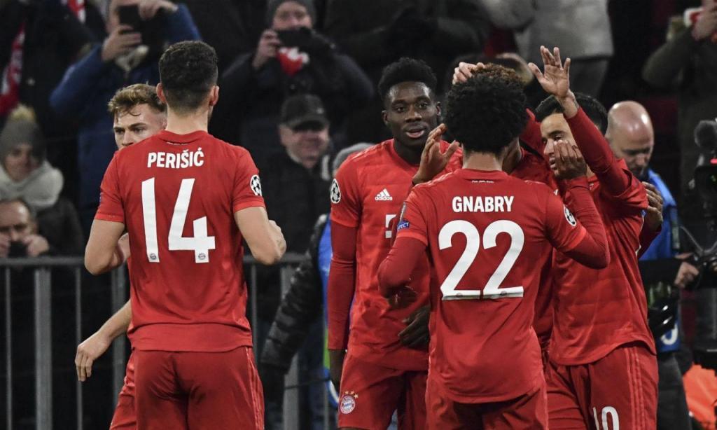 Coman deu vantagem ao Bayern frente ao Tottenham