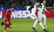 Cristiano Ronaldo em ação frente ao Bayer Leverkusen