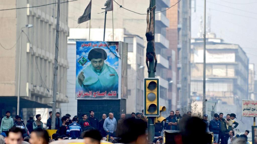 Atirador linchado em Bagdade