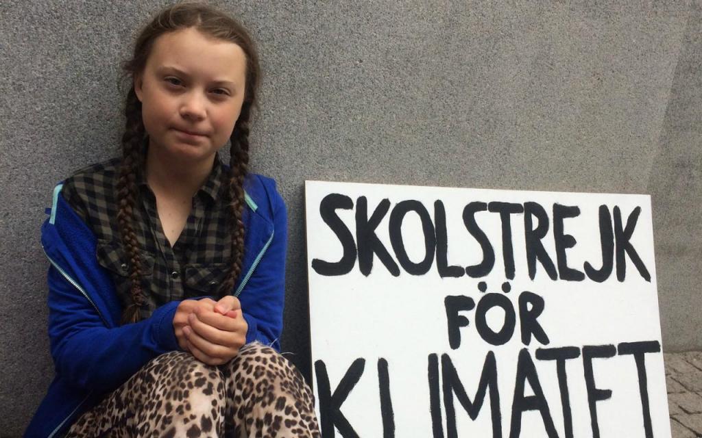 Resultado de imagem para Ativista Greta Thunberg blinda nome como marca comercial
