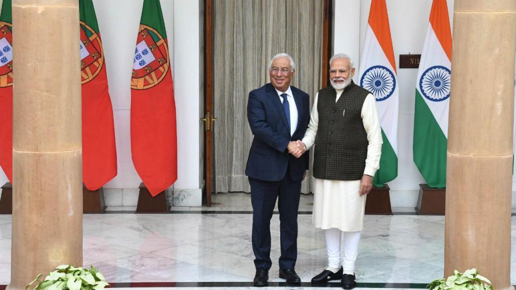 António Costa com o primeiro-ministro indiano Narendra Modi