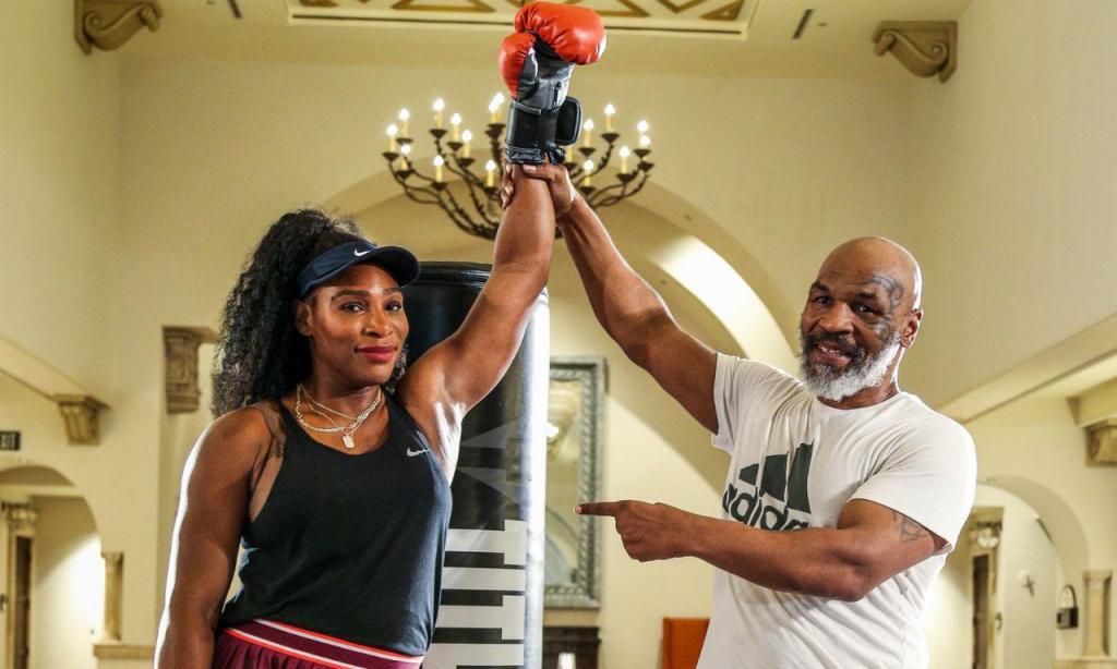 Serena Williams com Mike Tyson