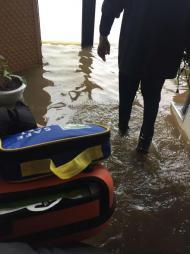 Centro de treinos da Académica inundado