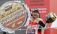 Marc Márquez campeão do mundo de MotoGP pela sexta vez (AP Photo/Alberto Saiz)