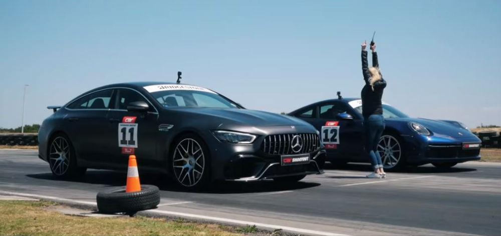 Porsche 911 Carrera S vs. Mercedes-AMG GT63S (Reprodução YouTube «Carmag.co.za»)