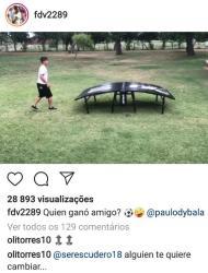 Óliver comenta teqball entre Dybala e Vázquez