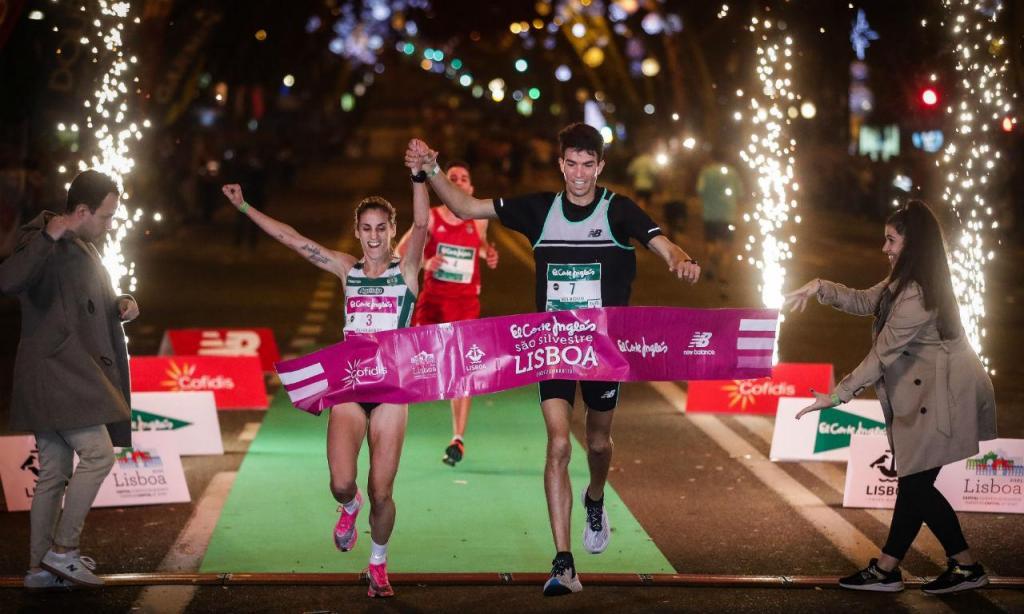 Adel Mechaal e Jéssica Augusto venceram São Silvestre de Lisboa