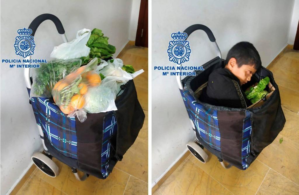 Casal detido por tentar entrar em Espanha com criança em carrinho de compras