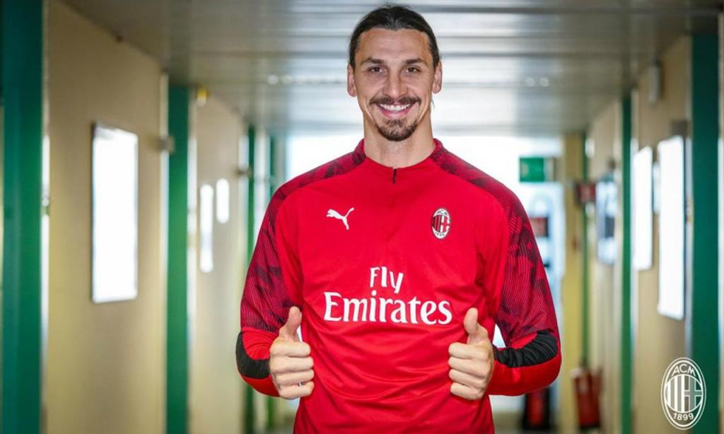 O primeiro dia de Zlatan Ibrahimovic no regresso a Milão (AC Milan)
