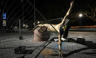 Estátua de Ibrahimovic destruída (EPA)