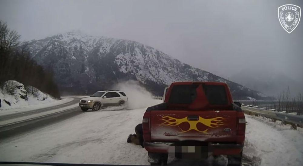 Acidente no Alascas (Reprodução Facebook)