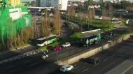A chegada do autocarro do Sporting, com nova imagem