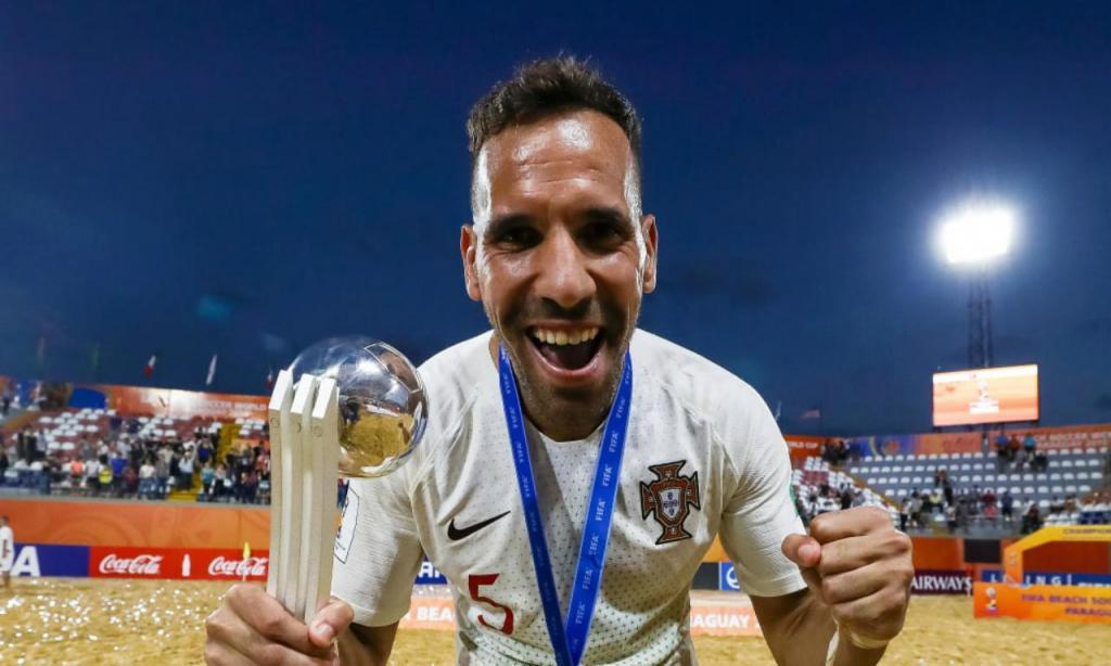Jordan Santos na final do Mundial de Futebol de Praia de 2019 (foto FIFA)