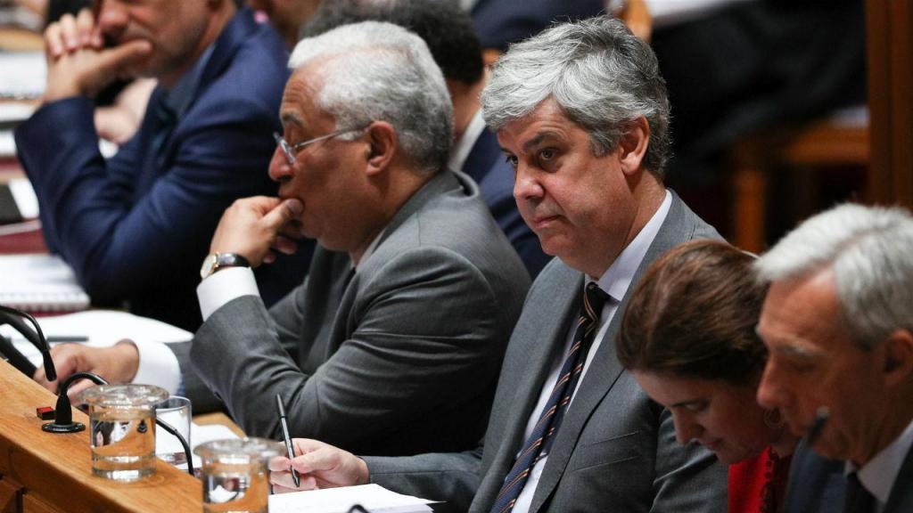 Mário Centeno e António Costa no debate para aprovação do OE2020 na generalidade