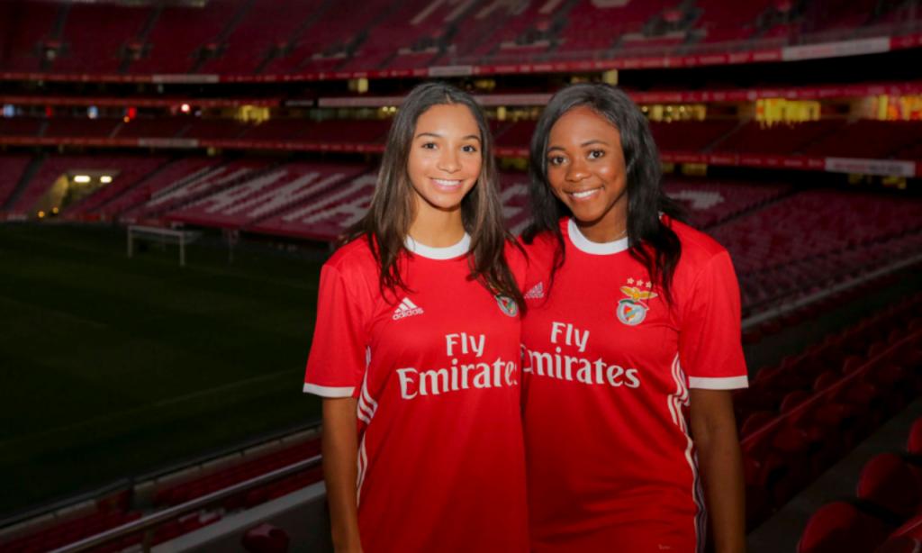 Alana O'Neill e Mimi Asom (site Benfica)