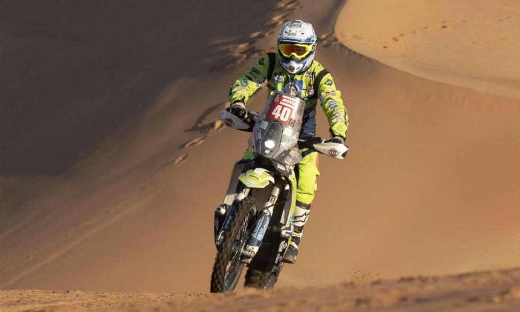 Edwin Straver em ação no Dakar