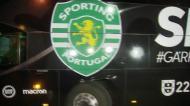 Autocarro do Sporting já chegou a Alvalade