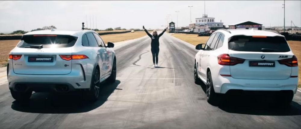 BMW X3 M Competition vs. Jaguar F-Pace SVR (Reprodução Youtube Carmag.co.za)