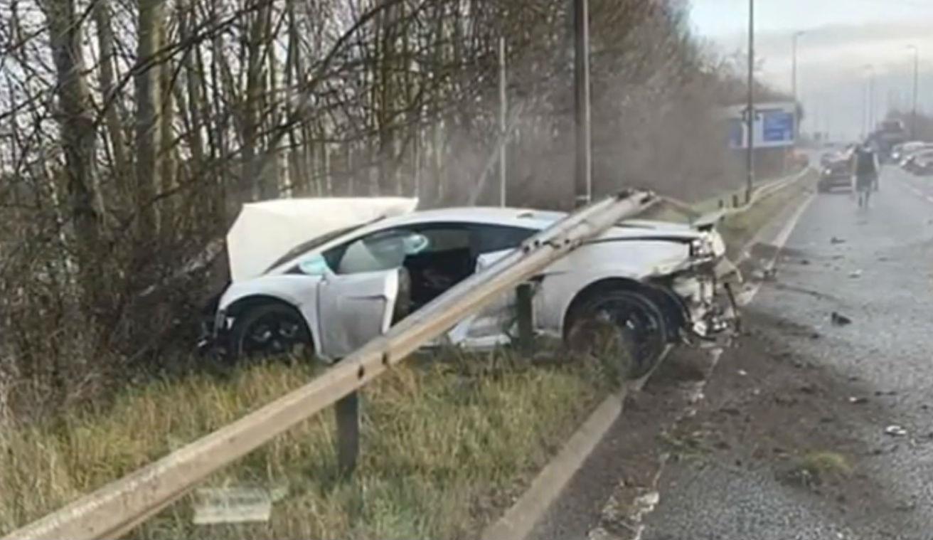 Acidente com Lamborghini de Romero (reprodução YouTube)
