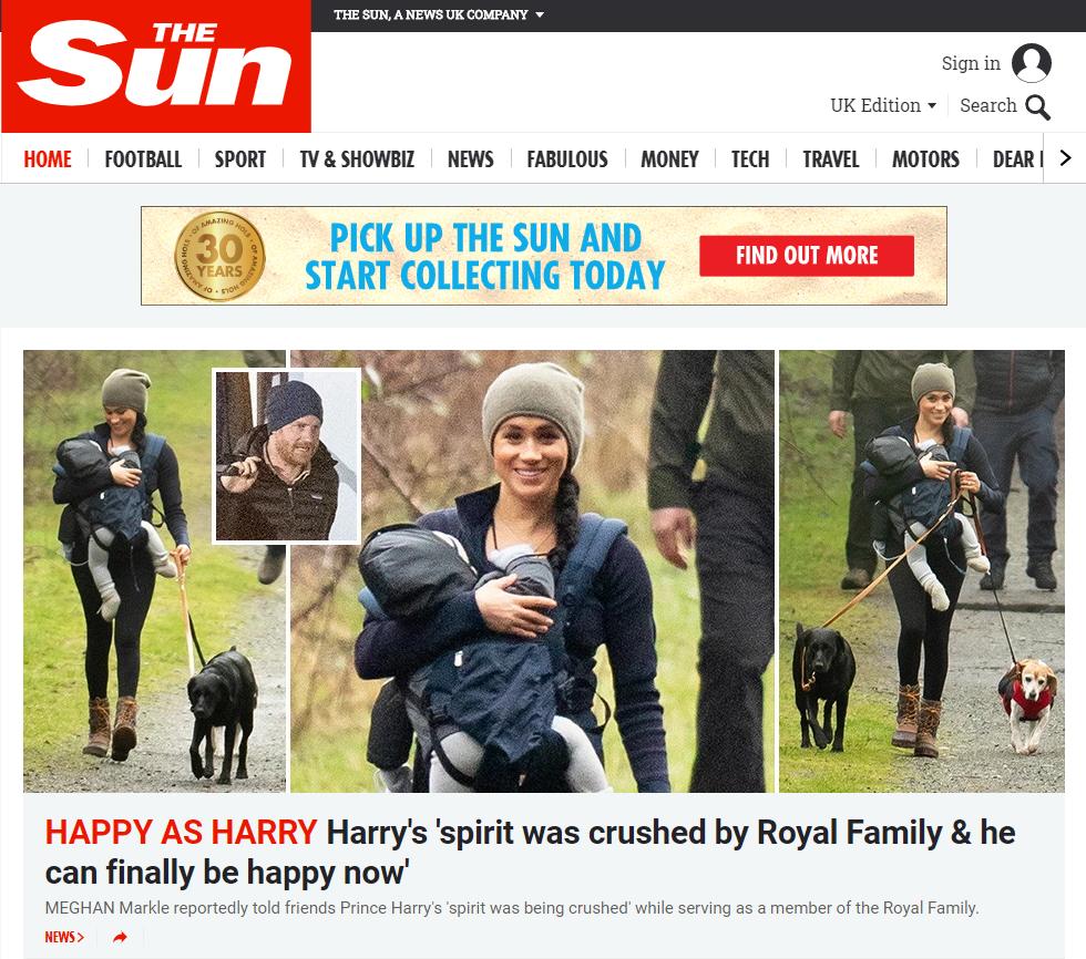 Manchete do jornal britânico The Sun esta quarta-feira