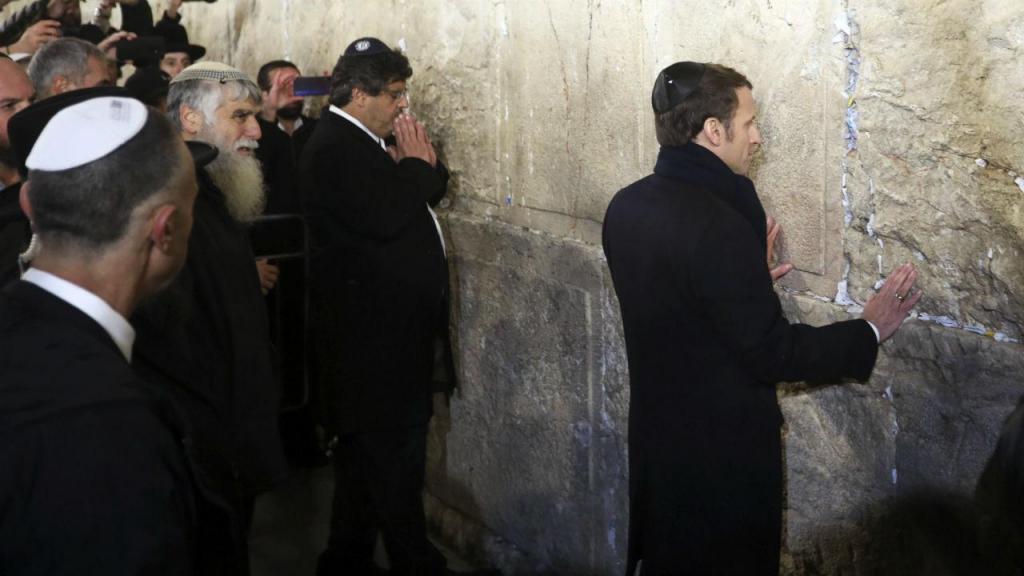 Emmanuel Macron no5.º Fórum Mundial do Holocausto