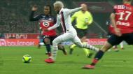 O golaço de Neymar que abriu o marcador diante do Lille