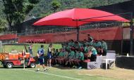 Palestra de Jorge Jesus aos jogadores (foto Flamengo)