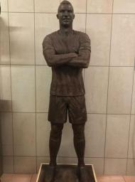 Cristiano Ronaldo de chocolate