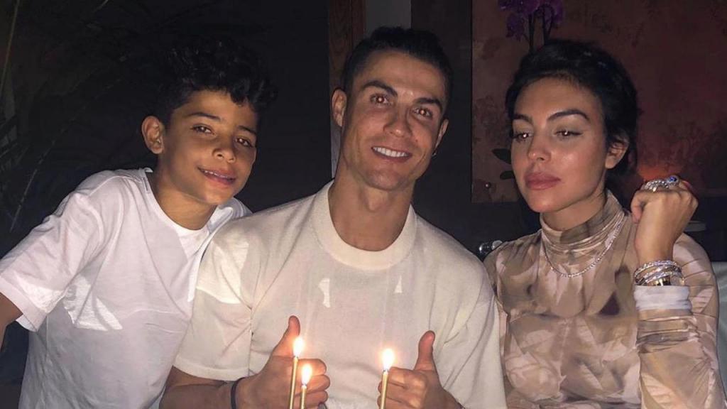 Cristiano Ronaldo, Cristianinho e Georgina Rodríguez