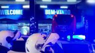 A chegada do autocarro do Benfica ao Dragão