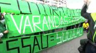 Adeptos protestam em Alvalade contra Frederico Varandas