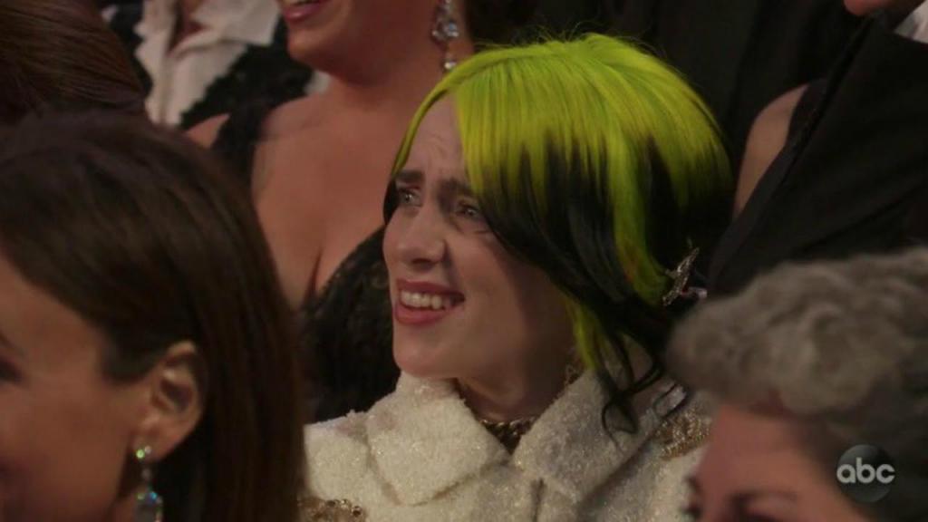 Redes Sociais atribuem Óscar de melhor reação da noite a Billie Eilish