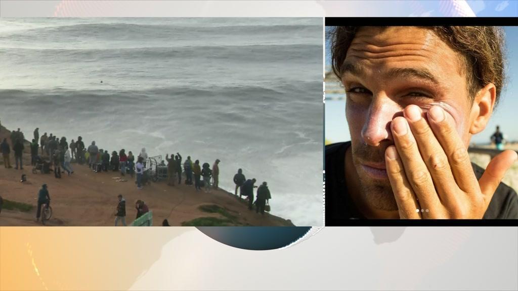 Surfista português retirado de prova de ondas gigantes está estável