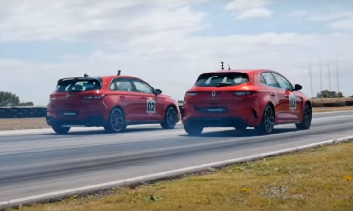 Drag race i30 N vs. Mégane RS 280 Cup